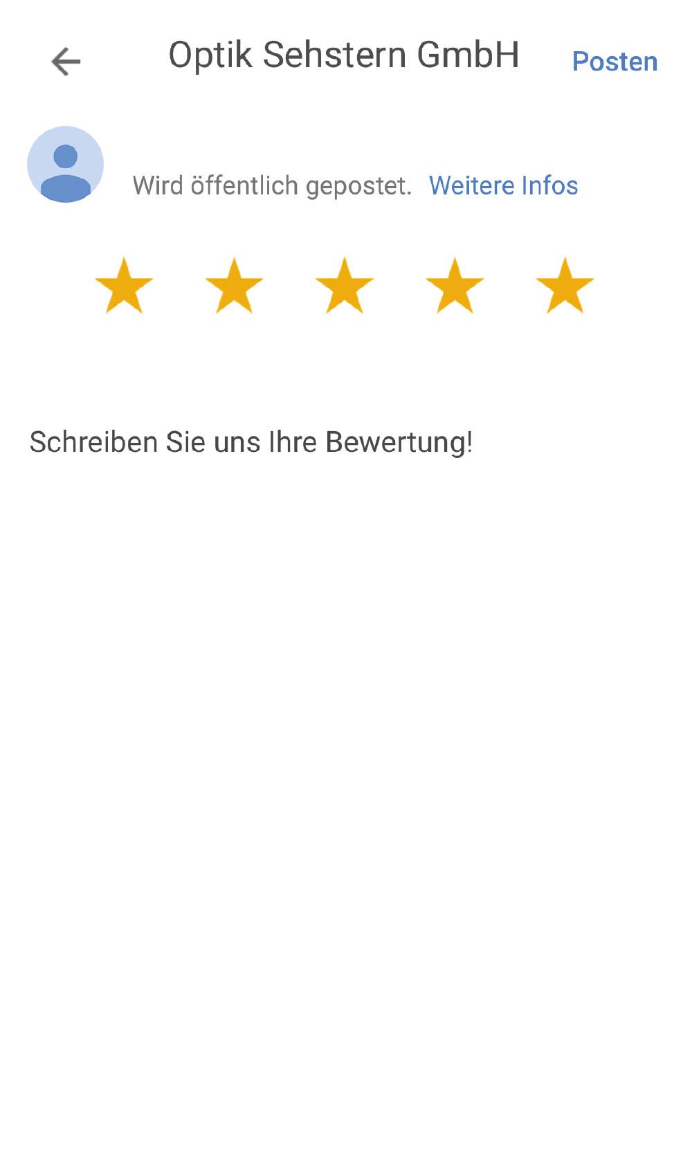 Google Bewertung Screenshot 3