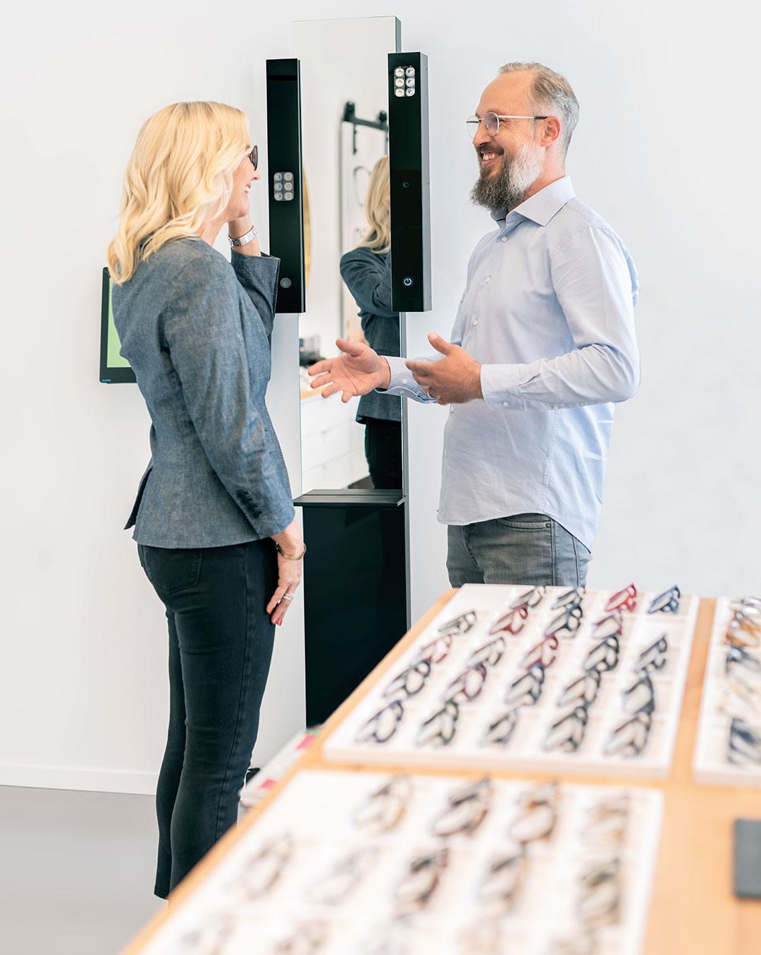 Gleitsichtbrille Beratung und Anpassung